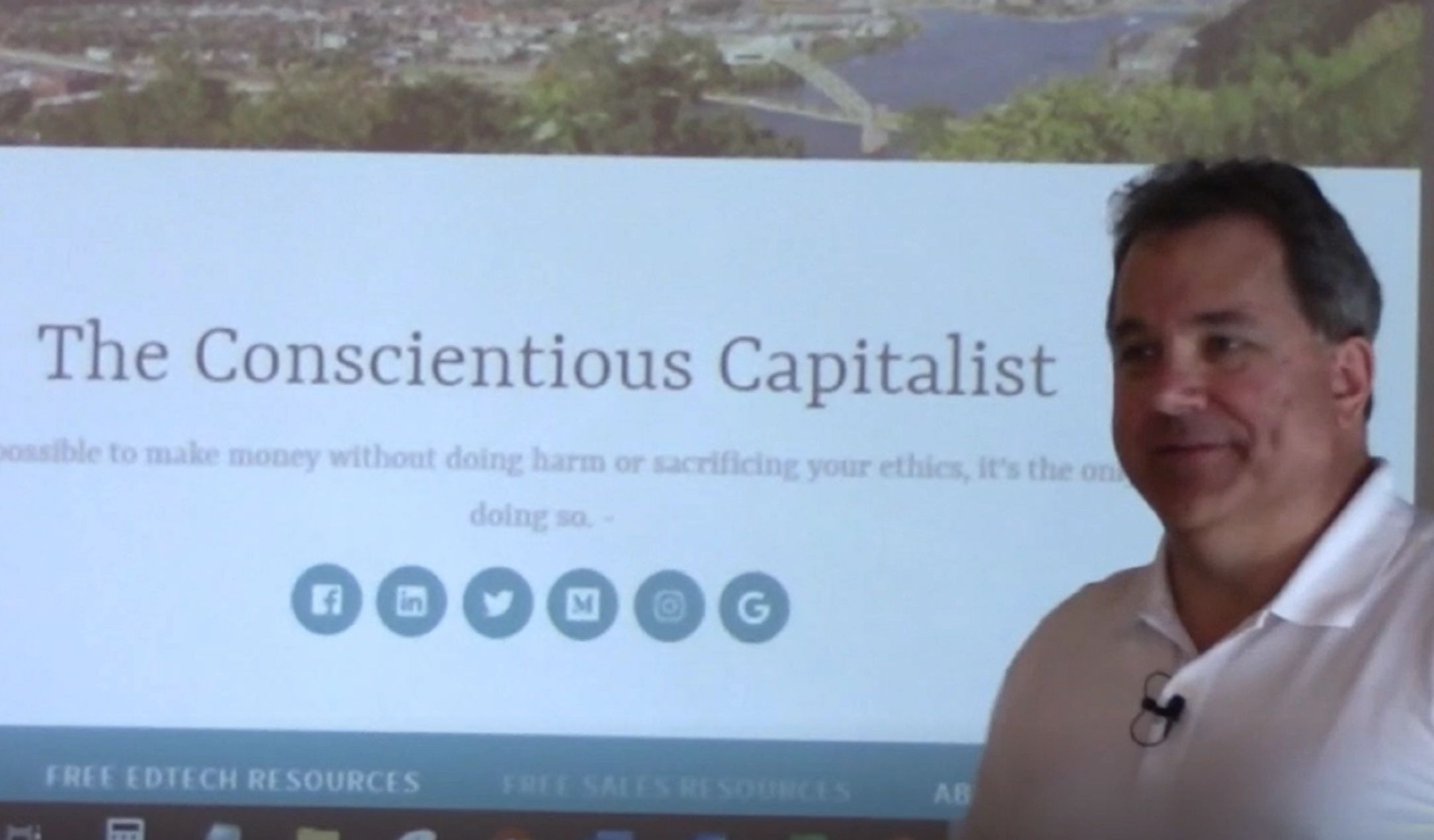The Conscientious Capitalist presenting at startup incubator, Ascender, in Pittsburgh