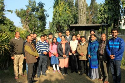 All tghe members of Inter Agency Group after a meeting on Spiritual Health and Community Health.