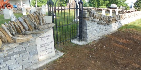 Cemetery Restoration, Historic Preservation, Reset headstones, dry stone wall, historic cemetery