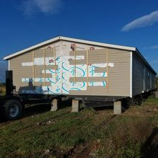 Double Wide mobile home sets.