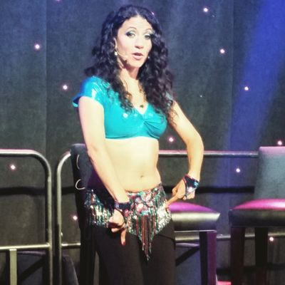 Tava teaching Bellydance Class at Foxwoods Resort & Casino in CT.