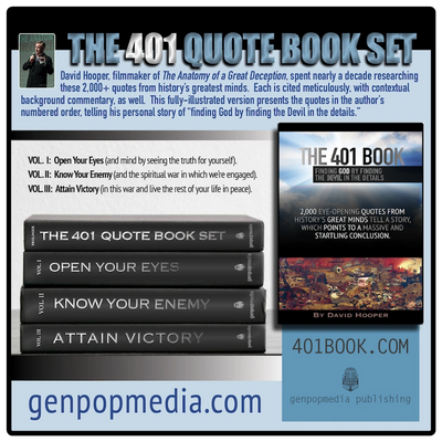 401 Book Set 3-Volumes by David Hooper & GenpopMedia.  2000 quotes mark a path to find God.