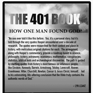 "The 401 Book: ""Finding God by finding the Devil in the Details."" David Hooper traces his path to God"