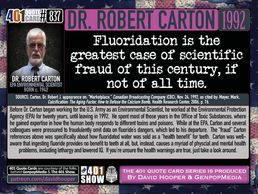 Dr. Robert Carton, fluoride, fluoridation, water, tooth decay, poison, fraud, passive, Pineal gland