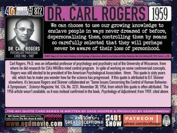 Dr Carl Rogers, fluoride, mind control, poison, pineal gland, attack on the human body. conspiracy,
