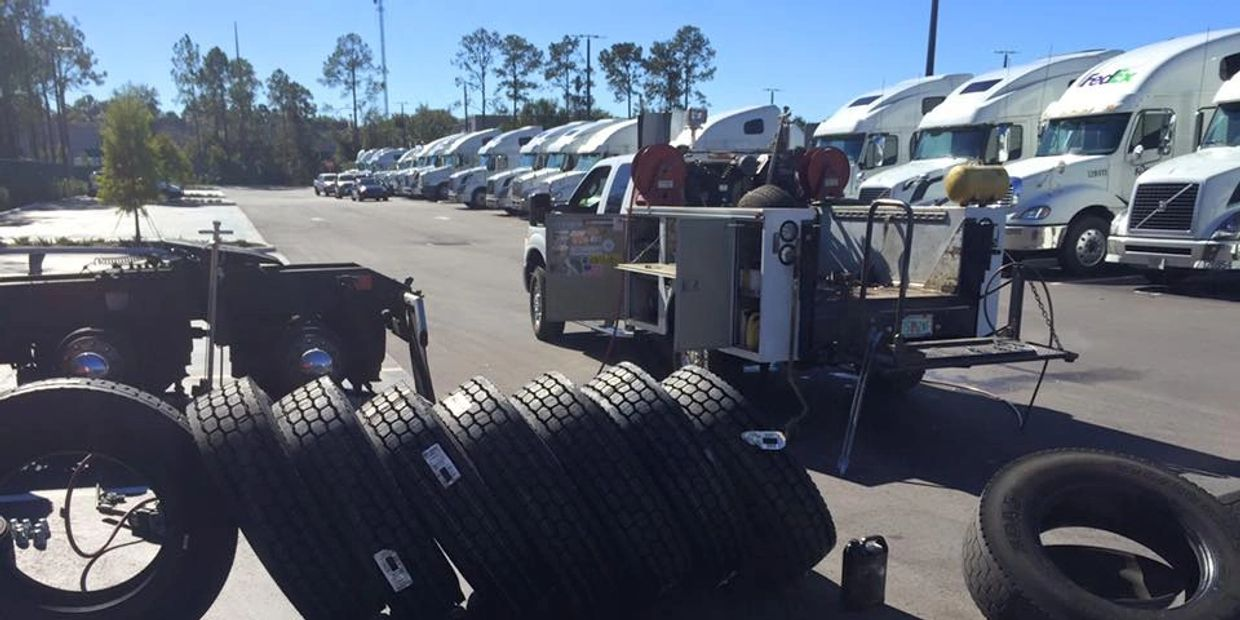 We provide the following: Truck tire repair or replace, mobile truck service, 24/7 tire service