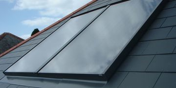 Solar thermal flat plate collector panels for domestic installations
