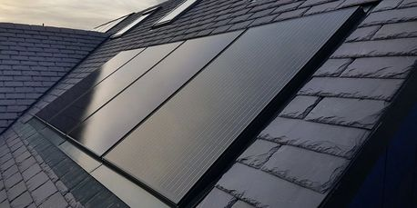 All black in roof solar panel systems