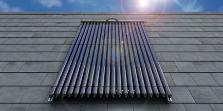 Solar thermal evacuated tube collector panels for domestic installations