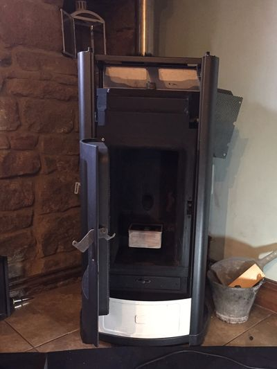 MCZ RED 365 Wood pellet Biomass boiler service maintenance and repair. Compact Hydro range