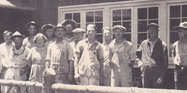 An old photo of the Pine Valley House being built. Not exactly the Men's Club but close enough...