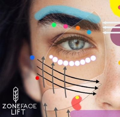 Zone Face Lift Logo showing portion of reflexes on face