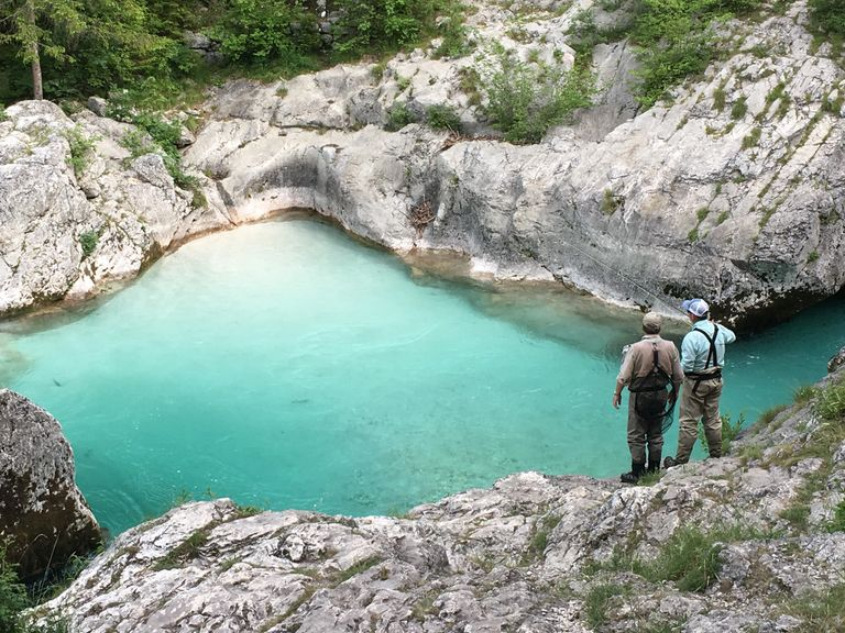 Fly Fishing Soca River Slovenia