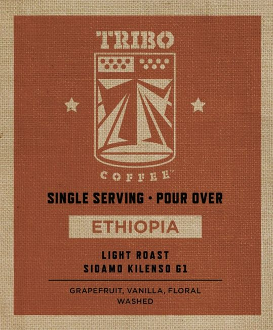 Ethiopian coffee.  Light roast coffee.  Single origin coffee.  One cup ground coffee.