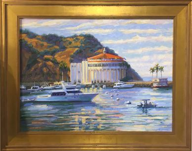 Oil painting of the Avalon Casino