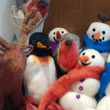 Various needle felted items