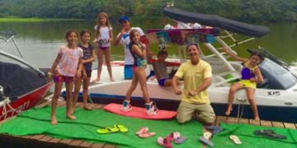Adam Fields doing Wakeboard and Wakesurf Camp
