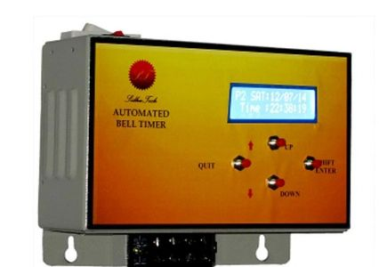 Industrial bell timer with 25 bell and 3 programs for different shifts