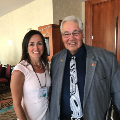 Fit4Duty founder Kelly Donovan with Senator Murray Sinclair in Charlottetown, PEI