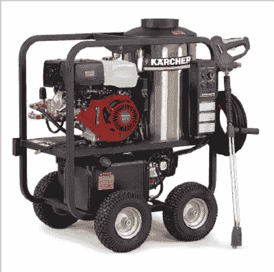 HDS P / PE CAGE PRESSURE WASHER, GAS POWERED DIESEL HEATED PRESSURE WASHER,  HOT WATER PRESSURE WASH