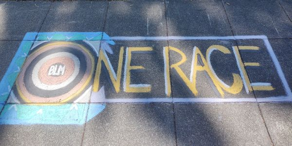 chalk art to bring awareness to civil rights issues