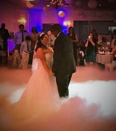 Wedding dancing on a cloud motion monogram