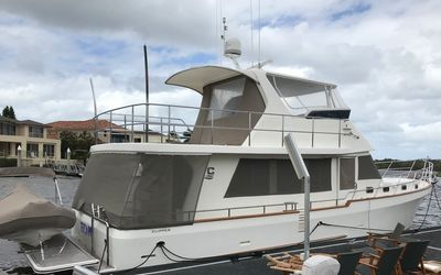 """Escape"" in her home berth on the Gold Coast, Queensland."