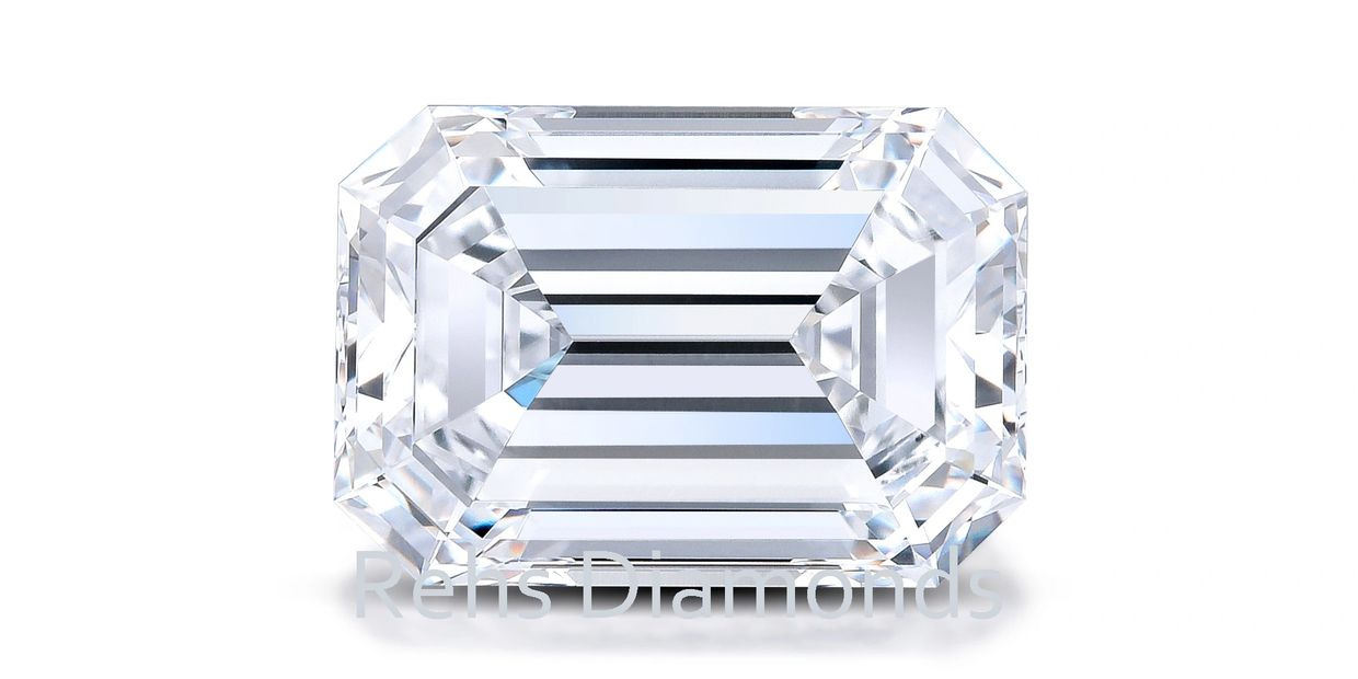5.06cts. D Flawless Emerald Cut Diamond: Wholesale B2B Rehs Co, Inc.