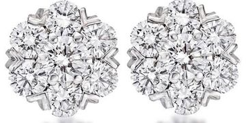 Cluster Earrings 3.10cts (G-H)
