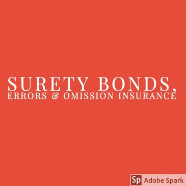 certificate of title bonds, surety bonds, errors and omissions insurance, E&O, alabama, texas