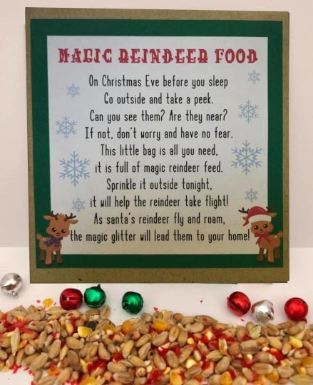 MAGIC SANTA DUST REINDEER FOOD XMAS Eve Box NO GLITTER ENVIRONMENTAL ANIMAL SAFE