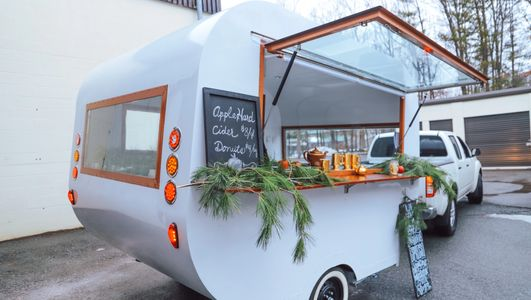 campfire trailers, campfire campers, mobile business, retro camper bar