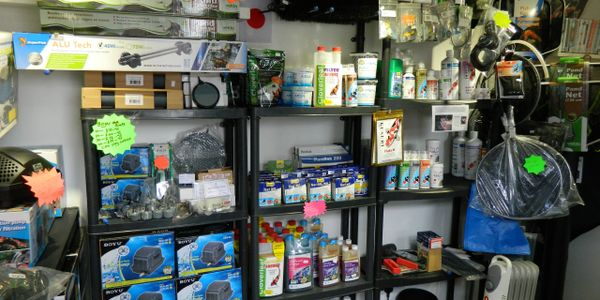 We do a full range of products from pond accessories to health care.