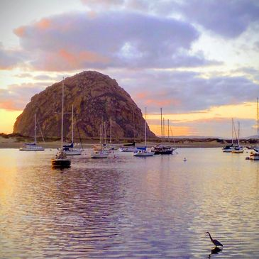Morro Bay California 93443 The rock sunset pastels artfromfinds
