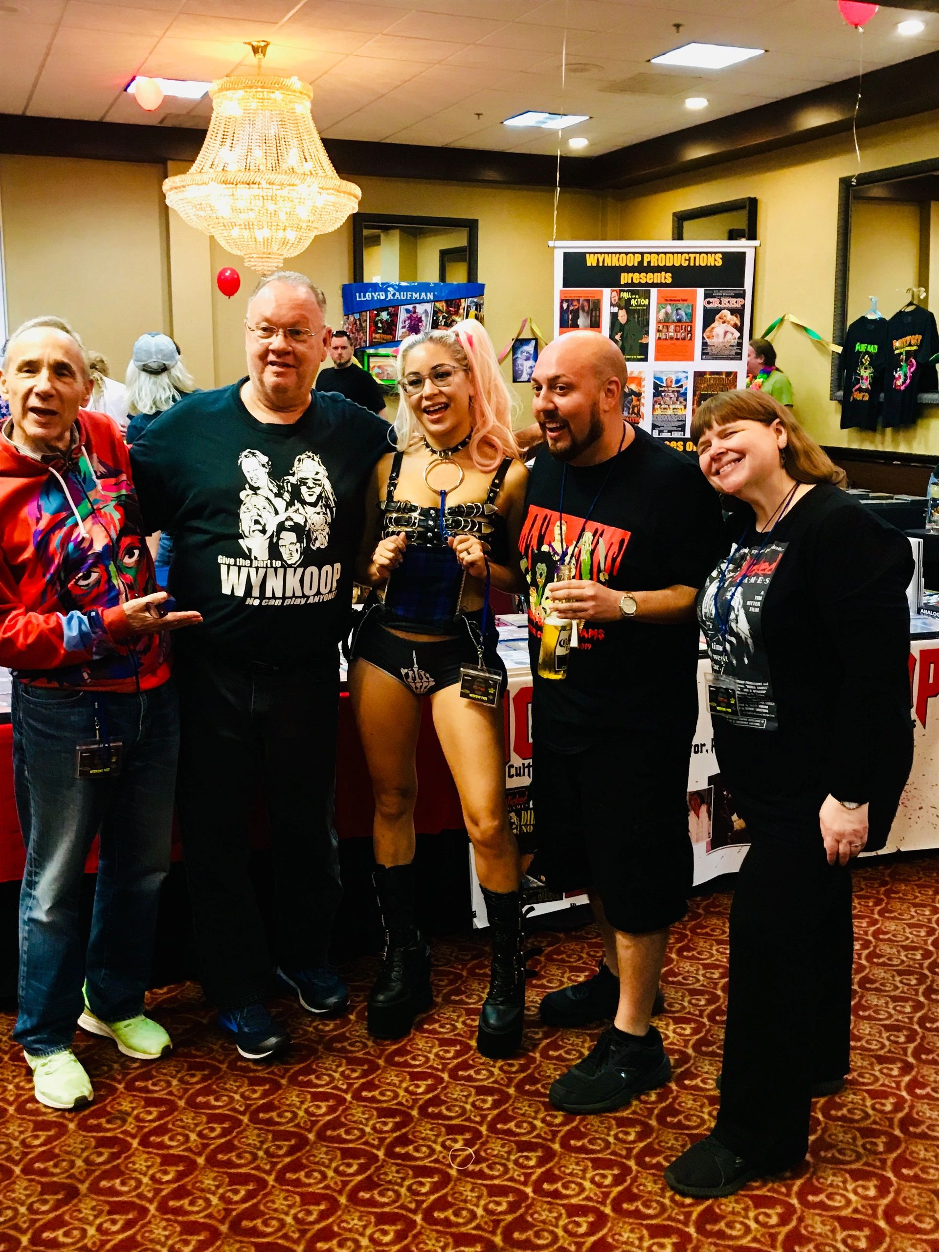 "{""blocks"":[{""key"":""97vbh"",""text"":""Left to Right:\nLLOYD KAUFMAN, JOEL WYNKOOP, SUSHII, SEAN DONOHUE and KATHERINE WYNKOOP"",""type"":""unstyled"",""depth"":0,""inlineStyleRanges"":[{""offset"":15,""length"":71,""style"":""BOLD""}],""entityRanges"":[],""data"":{}},{""key"":""bgl4b"",""text"":"""",""type"":""unstyled"",""depth"":0,""inlineStyleRanges"":[],""entityRanges"":[],""data"":{}}],""entityMap"":{}}"