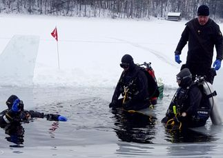 ice diving, lake George, PADI Ice Diver