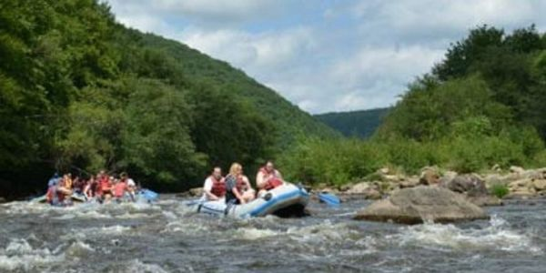 Pocono Whitewater Rafting on the Lehigh River Poconos Log Cabin Rentals