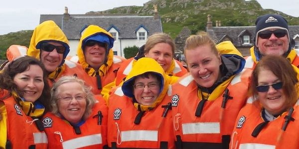 In Scotland, on the Isle of Iona ready to depart on a Seafari adventure to Staffa