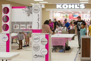 Kohl's and MapleWood mall interactive event.