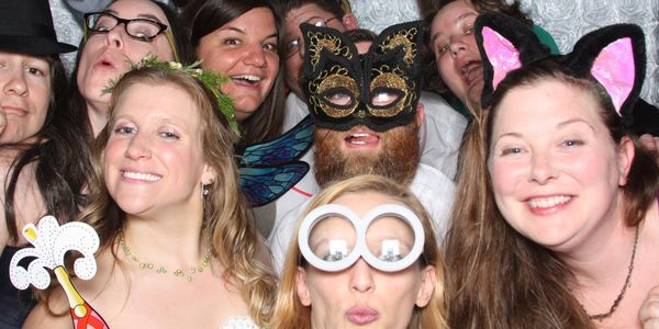 Hey Phoobooth corporate packages for holiday parties business event meetings with fun props