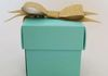 2 X 2 Wedding Favor box. The perfect size and color for a Tiffany Blue and Gold themed wedding. This is just one of many options