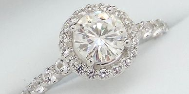 We can help you create a beautiful engagement ring with a whole lot of 'bling '.