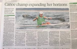 Danielle McKenzie Canoe champ expanding her horizons features in the New Zealand Weekend Herald 2020