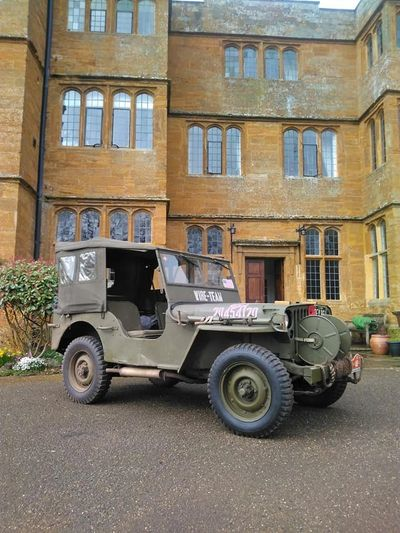 "Commemorative Airforce Willys MB Jeep at ""BrockHall""- Clandestine SOE and OSS training school"