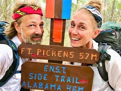 The Botanical Hiker and Weis Man on the Florida Trail