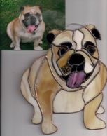 Custom Stained Glass of Pets from pictures