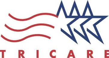 The logo for Tricare health insurance