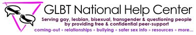 The logo for the GLBT Naitonal Help Center