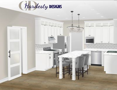 A glam styled eDesign kitchen remodel by CDHardesty Designs