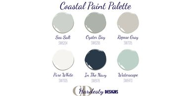 Example paint palette from an eDesign color consultation by CDHardesty Designs.